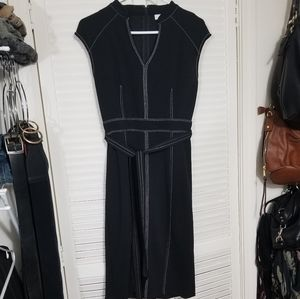 Black New York & Company Dress w/White Stitching